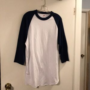 Soffe navy/white baseball shirt